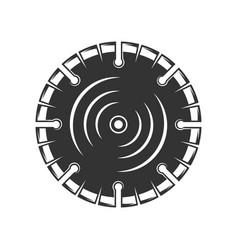 Circular saw close up isolated on white background vector
