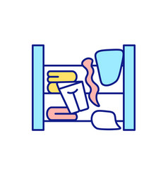 Cleaning in wardrobe vector
