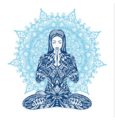 Concept of meditation vector