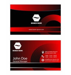 Creative and elegant business card design vector image