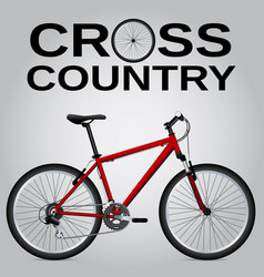 cross-country bike detailed drawing isolated vector image
