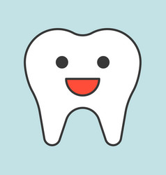 cute healthy tooth smile dental related icon vector image