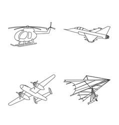 Design plane and transport logo vector