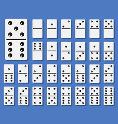 domino bones set vector image