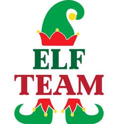 Elf team christmas elf christmas elf isolated on vector