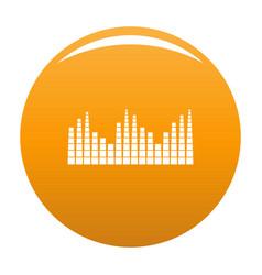 Equalizer level radio icon orange vector