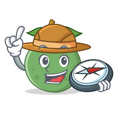 Explorer guava mascot cartoon style vector