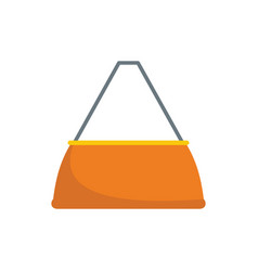 fashion bag icon flat style vector image
