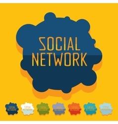Flat design social network vector image
