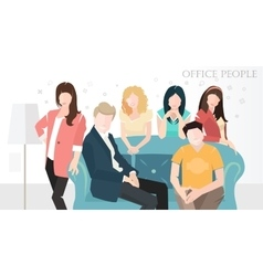 flat office people design style vector image