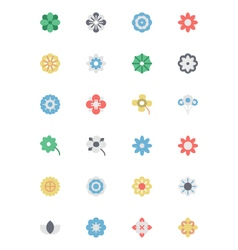 Flowers and Floral Colored Icons 1 vector