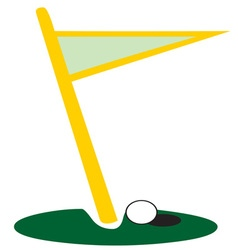 Golf Flag Hole vector image