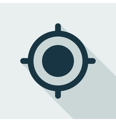 GPS Target Location Flat Icon vector image
