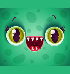 green monster for halloween vector image