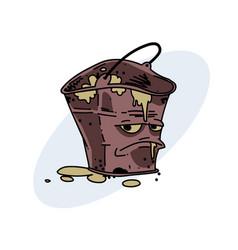 Grumpy dirty bucket vector