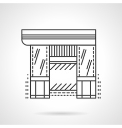 Hardware store flat line icon vector image