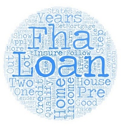 How To Pre Qualify For An FHA Home Loan text vector