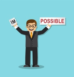 impossible is possible vector image