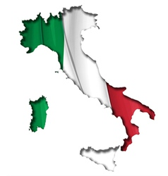 Italian Map Flag vector
