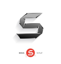 Letter S metal font Elegant Template for company vector image