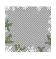 Llustration frame from green fir branches vector