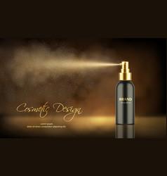 luxury spray bottle deodorant or freshener vector image