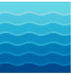 marine knitted seamless pattern with waves vector image