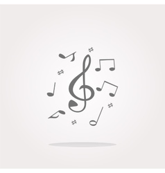 Music note Icon Music note Icon Picture vector image