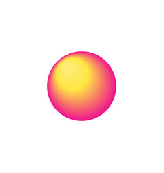 Neon sphere icon vector
