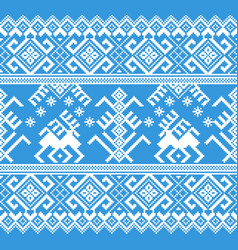 Of folk seamless pattern ornament vector