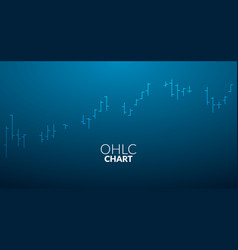 ohlc chart business line stick analytics graph vector image
