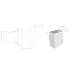 Packaging box and insert die cut template vector