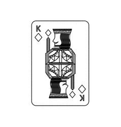 Poker king of diamond playing card vector