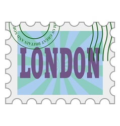 post stamp of London vector image