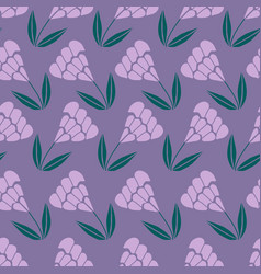 Purple flowers in a repeated pattern vector