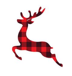 reindeer plaid vector image
