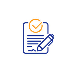 Rfp line icon request for proposal sign vector