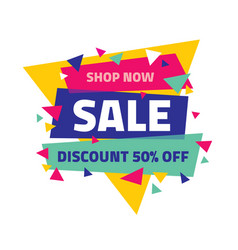 sale banner discount up to 50 percent off abstract vector image