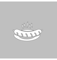 Sausage computer symbol vector image