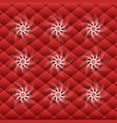 Scarlet squares with white blizzard vector