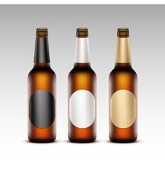 Set of Transparent Bottles with labels Light Beer vector