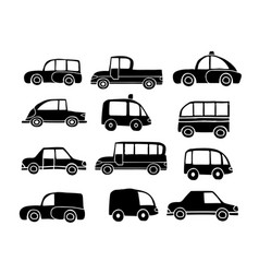 set toy silhouette sketches vector image