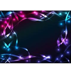 Shiny plasma ribbon background vector
