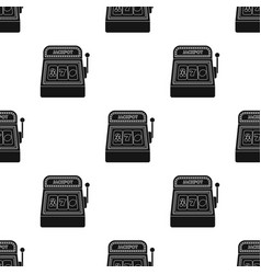 Slot machine icon in black style isolated on white vector