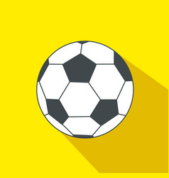soccer ball cartoon flat icon brazil vector image
