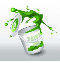 splash green paint realistic 3d image vector image