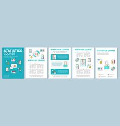 statistics metrics tools course brochure template vector image