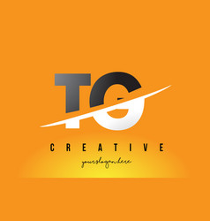 Tg t g letter modern logo design with yellow vector