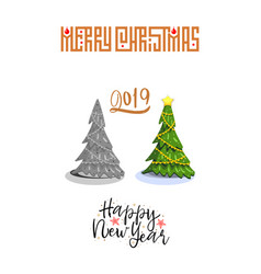 the concept of christmas trees modern flat style vector image