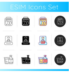 Things for travelling tourist suitcase icons set vector